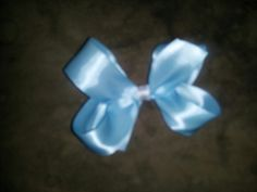Small light blue bow