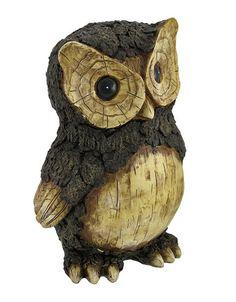 Wood carved owl - on eBay