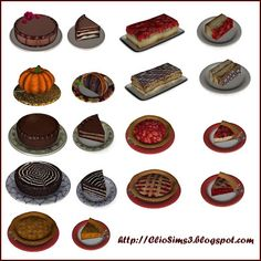 Cakes set at Clio Sims 3 - Sims 3 Finds