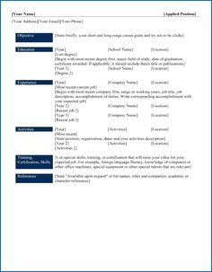 Different Resume Formats Resume Format Latest 2018  Resume Format  Pinterest  Resume .