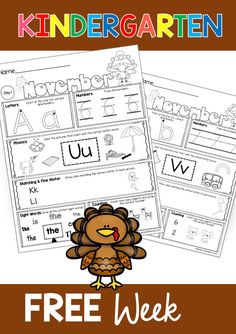 FREE WEEK OF MORNING WORK FOR KINDERGARTEN - November worksheets and printables - more and less first sounds beginning sounds ten frames counting and cardinality one to one correspondence alphabet FREE WEEK OF WORKSHEETS #kindergartenmorningwork #kindergartenmath