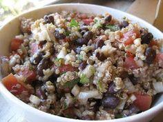 THM (E) quinoa, black bean & tomato salad - Rebecca Larsen - Thm Recipes, Healthy Salad Recipes, Cooking Recipes, Recipies, Healthy Carbs, Healthy Eating, Clean Eating, Healthy Foods, Trim Healthy Momma