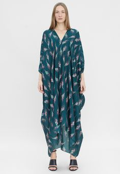 Rodebjer Agave Seaflower Kaftan, Kimono Top, How To Wear, Tops, Women, Fashion, Moda, Fashion Styles, Caftans