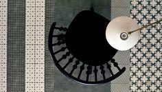 """Azulej"" design by Patricia Urquiola for MUTINA - Azulej Nero: trevo, trama, estrela ... different patterns to create endless combinations! (material: gres porcellanato; dimensions: 20x20 cm)"