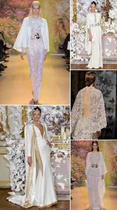 Capes and capelets:  Spring/Summer 2014 Haute Couture Round-Up:  Bridal Party Trends for 2014.  Created exclusively for www.lovemydress.net.