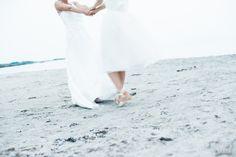 The dance at the beach. Samesex wedding in Sweden