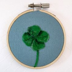 This four leaf clover hoop art would be perfect for St Patrick's Day decor or as a good luck gift or going away gift!