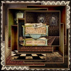 Misfit Dollhouse Papers  @ Mischief Circus. A digital image kit for your art, mixed media, collage, ATCS, photo manipulation and scrapbooking.