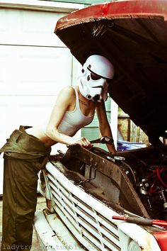 Original Ladytrooper Mechanic Photograph