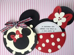 Tarjetas Minnie Mouse By Card Dreams