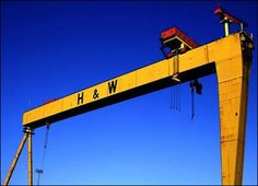 Harland and Wolff Northern Irish, Northern Ireland, Industrial Companies, Amazing Buildings, Rms Titanic, Royal Mail, Belfast, Construction, World