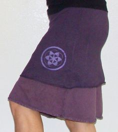 Hemp and Organic cotton Skirt  with Sacred geometry print - Custom made for you and great for layering. $50.00, via Etsy.