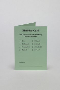 Utilitarian Greeting Cards : Daniel Eatock