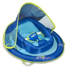 The SwimWays Infant Baby Spring Float is a fun, safe way to introduce your little one to the water. features a contoured inner flotation seat that elevates baby above the water to keep them comfy, with an adjustable 3-point harness to keep baby secure.