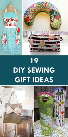 34 quick DIY sewing gifts for friends and familyQuick DIY gifts for sewing - best sewing projects for gifts and for simple handmade gifts - free instructions and simple step-by-step instructions for home decor, babies, Easy Sewing Projects, Sewing Projects For Beginners, Sewing Hacks, Sewing Tutorials, Sewing Crafts, Sewing Tips, Diy Projects, Sewing Basics, Diy Gifts Sewing