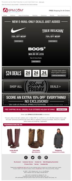 ee8671bce75a8 23 Best Email - Holiday Black Friday images