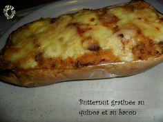 Butternut gratinée au quinoa et bacon