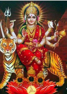 Navratri Puja will help you overcome all your negativities. Flourish with wealth on this Navratri by offering Homam to Lakshmi, Saraswathi & Durga. Maa Durga Photo, Maa Durga Image, Durga Kali, Shiva Hindu, Durga Puja, Shiva Shakti, Hindu Deities, Hindu Art, Shiva Art