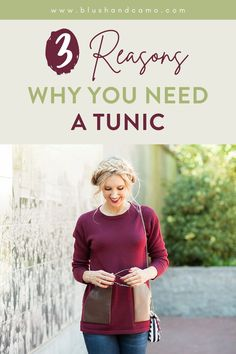 Do you have a tunic in your closet yet? No? You really should! They are hands down the best tops to style. If you don't believe me, take a look at my 3 reasons why you need a tunic! You'll be running out to buy 1 or 2 or 3 to add to your wardrobe today! #tunicshirt #shirtstyle #fashiontips
