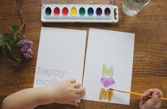 Free printable mother's Day card made for kids to color or paint. One of our favorites.