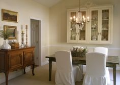 More white with a little french rustic.