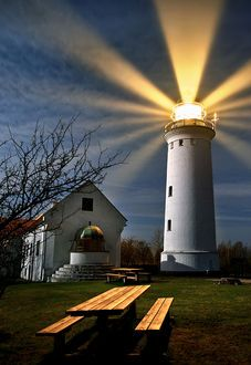 """lighthouse  © keller   This reminds me of the song we sing, """"The Lighthouse""""   'There's a lighthouse on the hillside that overlooks life's sea. . .'"""