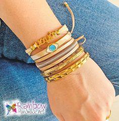 Handmade jewelry and more! Handmade Bracelets, Handmade Jewelry, Bangles, Eyes, Gold, Fashion, Bracelets, Moda, Handmade Jewellery