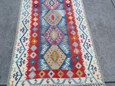 "SALE! Multicolor Turkish Rug Interior Design Vintage Floor and Rugs Boho Decor Kilim Rug Anatolian Woven Wool Homedecor Rug Boho 4'10""x7'10"""