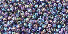 Toho Seed Beads - Size 11/0 Transparent Rainbow Sugar Plum - 17308