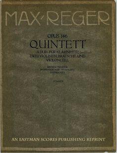 Reger, Max : Quintett (A dur) fur Klarinette (oder Bratsche) zwei Violinen, Bratsche und Violoncell : op. 146