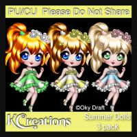 Summer Dolls 3 pack CU