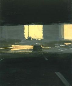 """""""Love a contemporary street scene."""" KB ben aronson Commuter 2005 oil on panel 22 x 18 inches Urban Landscape, Landscape Art, Landscape Paintings, Urban Painting, Art And Architecture, Classical Architecture, Ancient Architecture, Sustainable Architecture, City Art"""