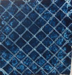 Maki-nui (overcast stitch) shibori piece. Cotton with Procion dye. Lovely piece by Tela shibori, via Flickr