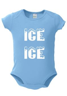26dbdc547 Ice Ice Baby INFANT One Piece funny boys girls rap by WessyBaby, $11.00