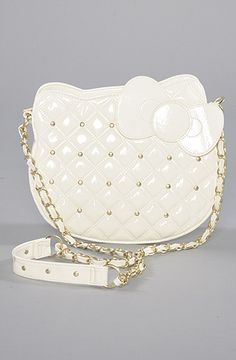 *The Extras The Hello Kitty Studs Bag in White,Bags (Handbags/Totes) for Women, (hello kitty, whitehellokitty) Studded Handbags, Studded Bag, Tote Handbags, Hello Kitty Purse, Hello Kitty Items, My Bags, Purses And Bags, Coin Purses, Sanrio