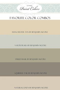 Questions + Manchester Tan Color Combination | Favorite Paint Colors Blog