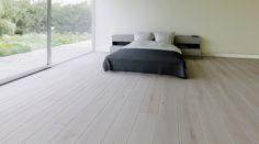 Podłoga drewniana Dąb Biały Transparentny do nowoczesnych wnętrz. Realizacja BKD Home