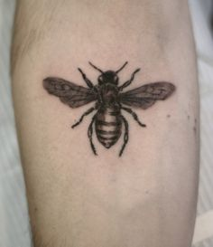 Small bee done on my inner forearm by Andy Johnson @ Cap City Tattoos in Columbus, OH