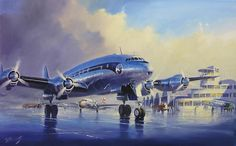 Lockheed Constellation (Air France) in le Bourget by Lucio Perinotto