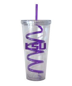 Take a look at this LSU Swirl Straw 22-Oz. Tumbler by Boelter Brands on #zulily today!