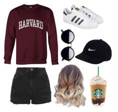 """Casual day"" by naynay151 on Polyvore featuring Topshop, adidas and NIKE"