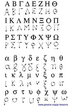 Alphabet and Beyond Greek Writing, Kids Writing, Greek Alphabet, Alphabet For Kids, Greek Crafts, Learn Greek, Greek And Roman Mythology, Greek Language, Greek Culture