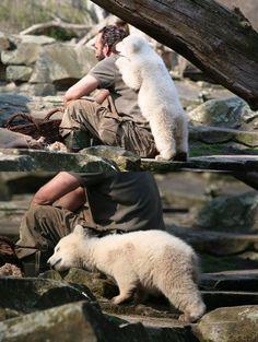 A Polar Bear And His Keeper
