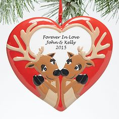 Forever In Love<sup>©</sup> Personalized Reindeer Ornament
