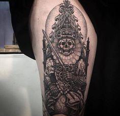 30c4b36413a99 r/tattoos - Skeleton Queen Thigh Piece. Done by: Alex Snelgrove at Okey  Doke Tattoo Shop, Toronto, Ontario