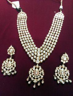 Uncut polki diamond set