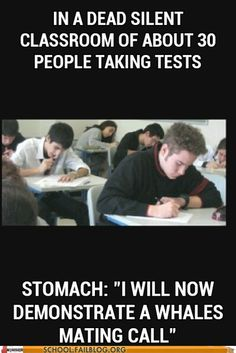 Your Stomach Is Well Versed in Whale Song. TRUTH. Mine actually done this today while taking a calculus test.