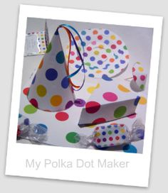 Make polka dot party decorations - free templates