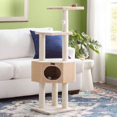 Cats are best, the cutest! – Every Cat is here Cat Tree Condo, Cat Condo, Large Cat Tree, Cat Stairs, Litter Box Enclosure, Cat Towers, Wood Cat, Cat Playground, Sisal Rope