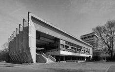 Skulpturenmusem Glaskasten, Marl, Germany - 1967 Jacob (Jaap) Bakema & Johannes Van der Broek The Skulpturenmuseum Glaskasten is part of the urban ensemble of town hall, shopping centre, park and...